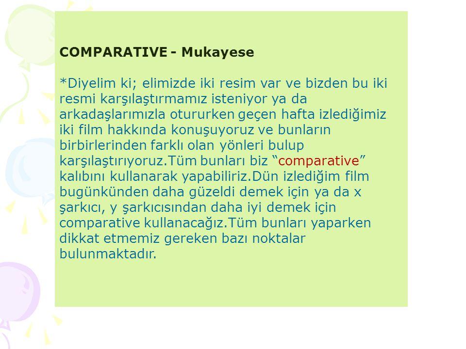 COMPARATIVE - Mukayese