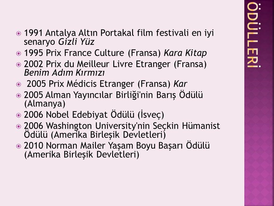 1991 Antalya Altın Portakal film festivali en iyi senaryo Gizli Yüz