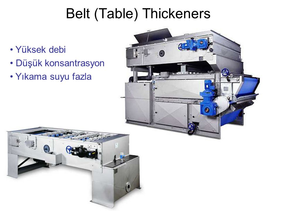 Belt (Table) Thickeners