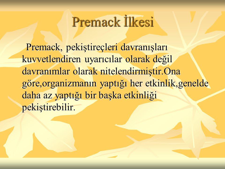 Premack İlkesi