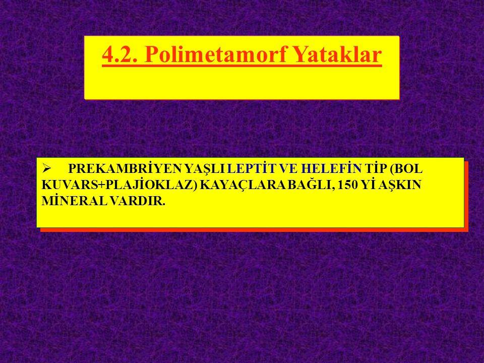 4.2. Polimetamorf Yataklar