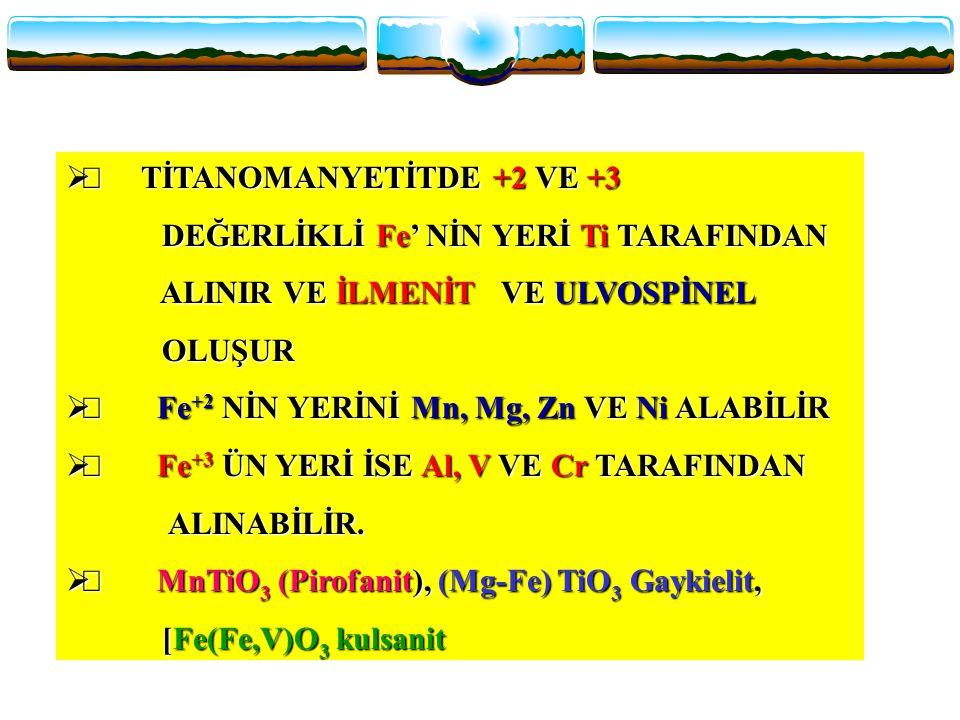 Ñ TİTANOMANYETİTDE +2 VE +3