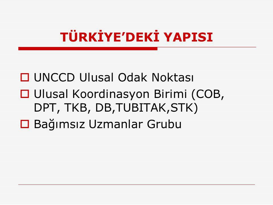 TÜRKİYE'DEKİ YAPISI UNCCD Ulusal Odak Noktası