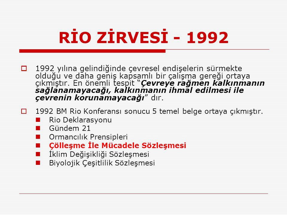 RİO ZİRVESİ - 1992