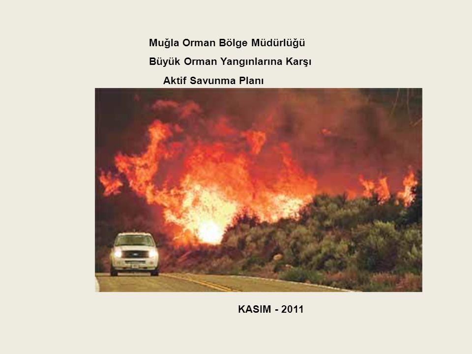 Muğla Orman Bölge Müdürlüğü Büyük Orman Yangınlarına Karşı