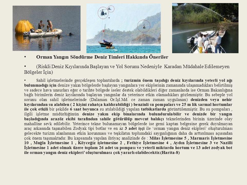 Orman Yangın Söndürme Deniz Timleri Hakkında Öneriler