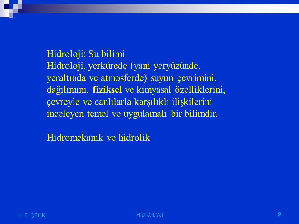 Hidromekanik ve hidrolik