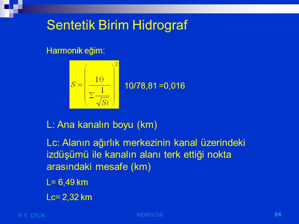 Sentetik Birim Hidrograf