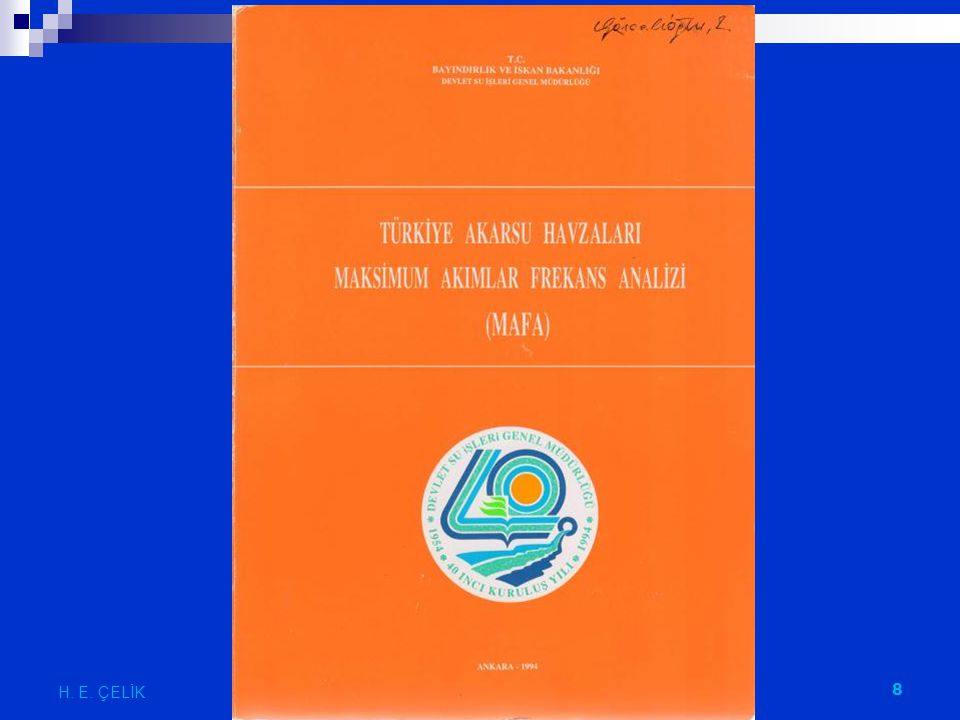 H. E. ÇELİK HİDROLOJİ