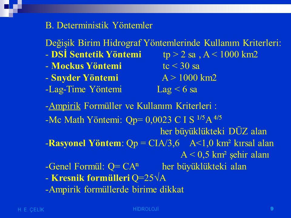 B. Deterministik Yöntemler