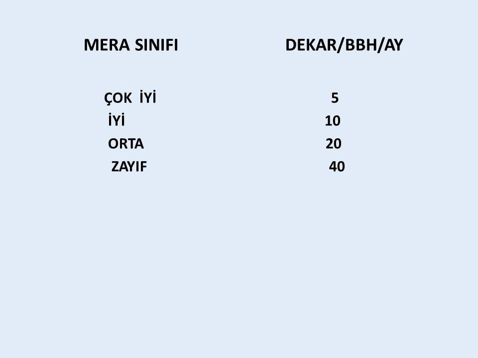 MERA SINIFI DEKAR/BBH/AY