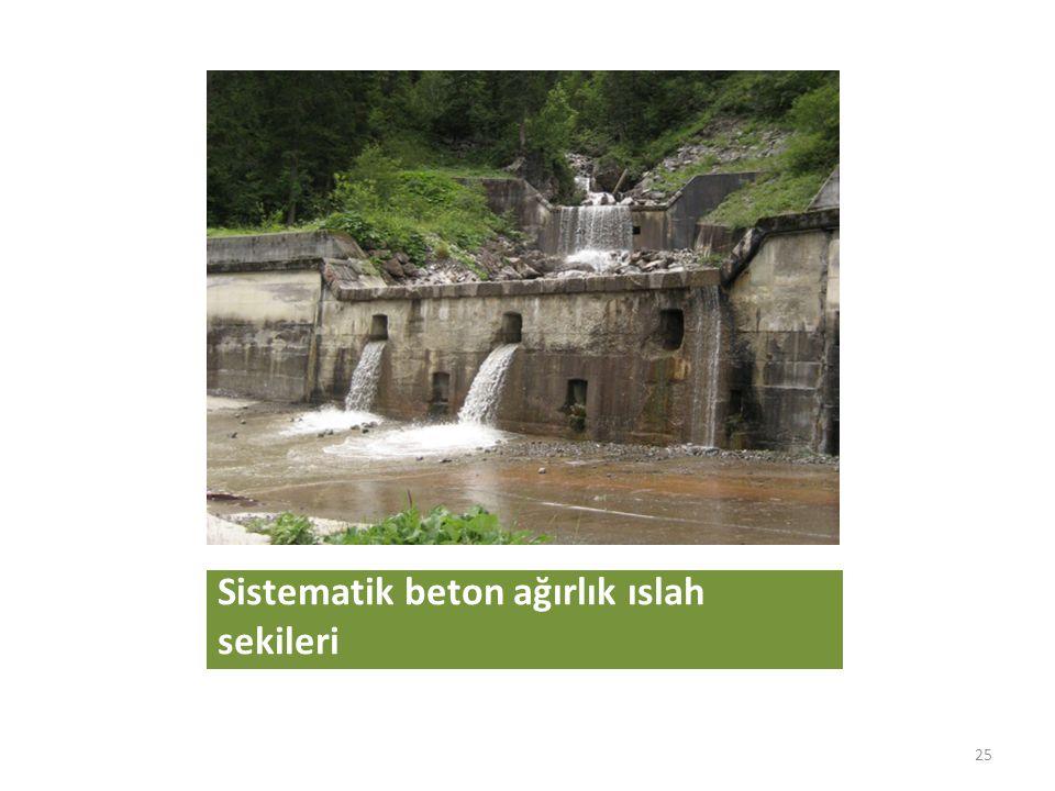 Sistematik beton ağırlık ıslah sekileri