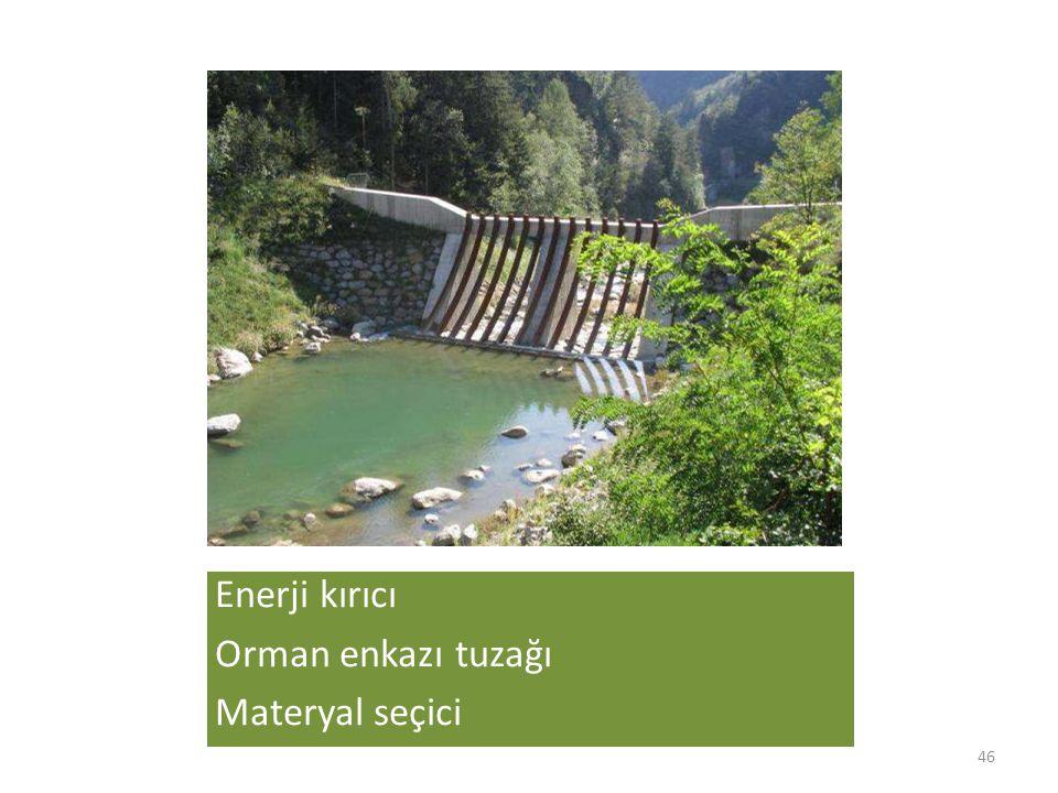 Enerji kırıcı Orman enkazı tuzağı Materyal seçici