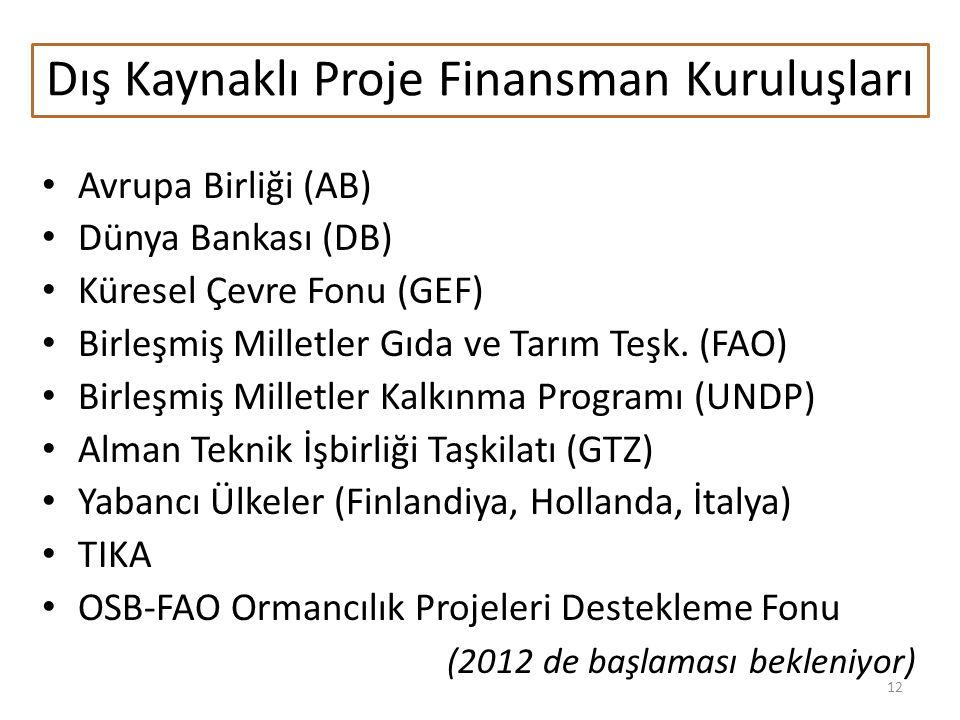 Dış Kaynaklı Proje Finansman Kuruluşları