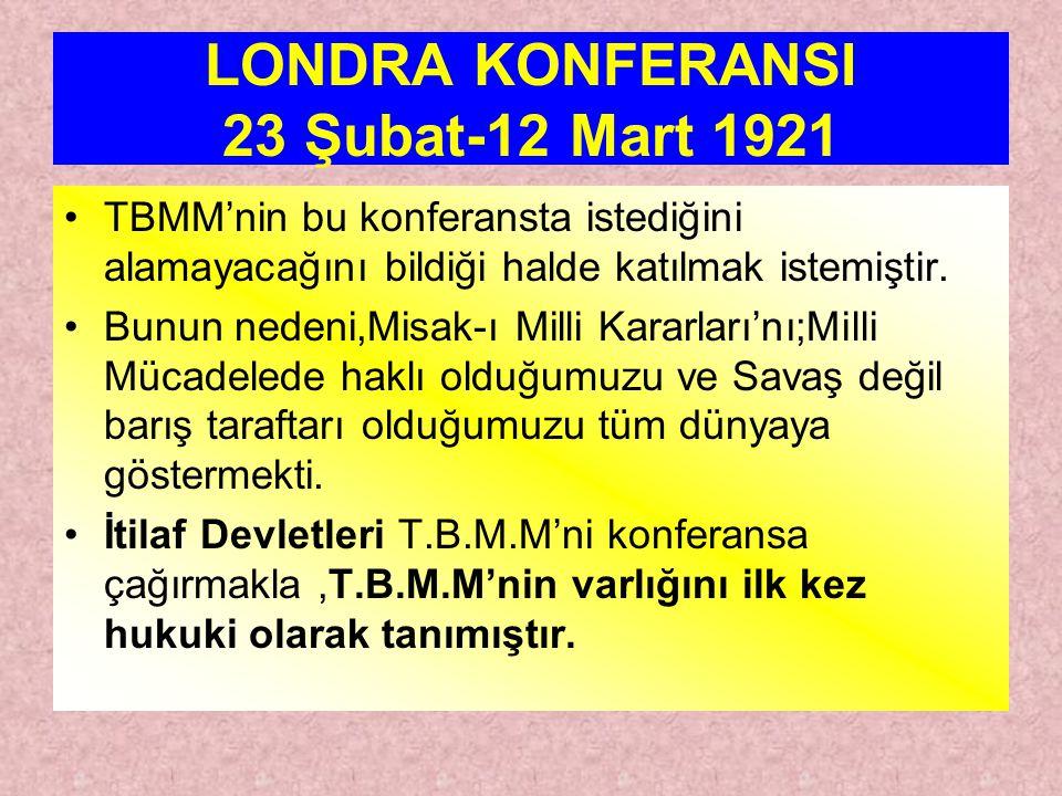 LONDRA KONFERANSI 23 Şubat-12 Mart 1921