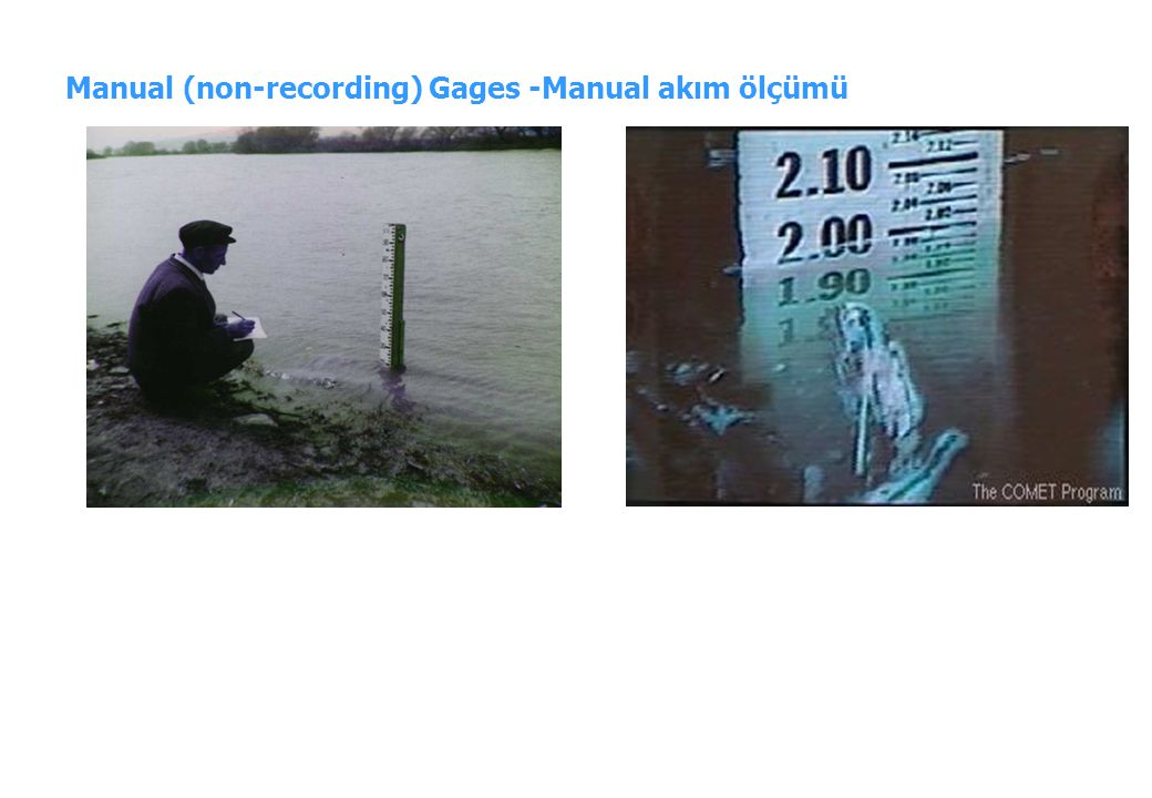 Manual (non-recording) Gages -Manual akım ölçümü