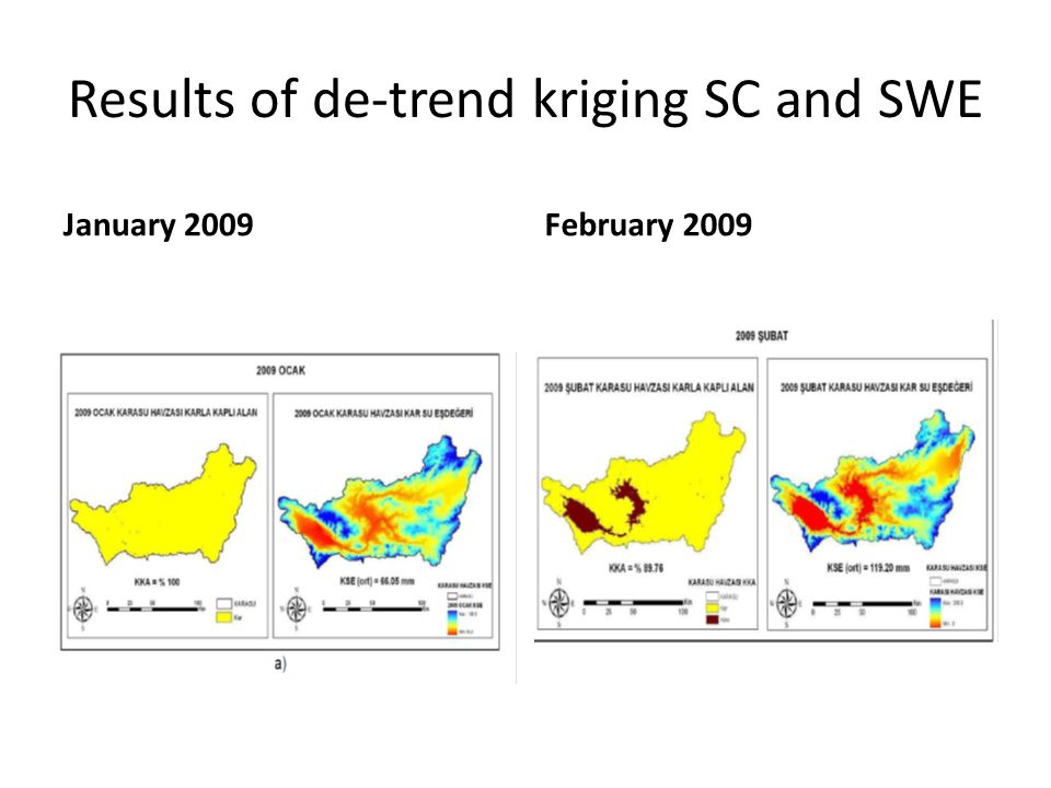 Results of de-trend kriging SC and SWE