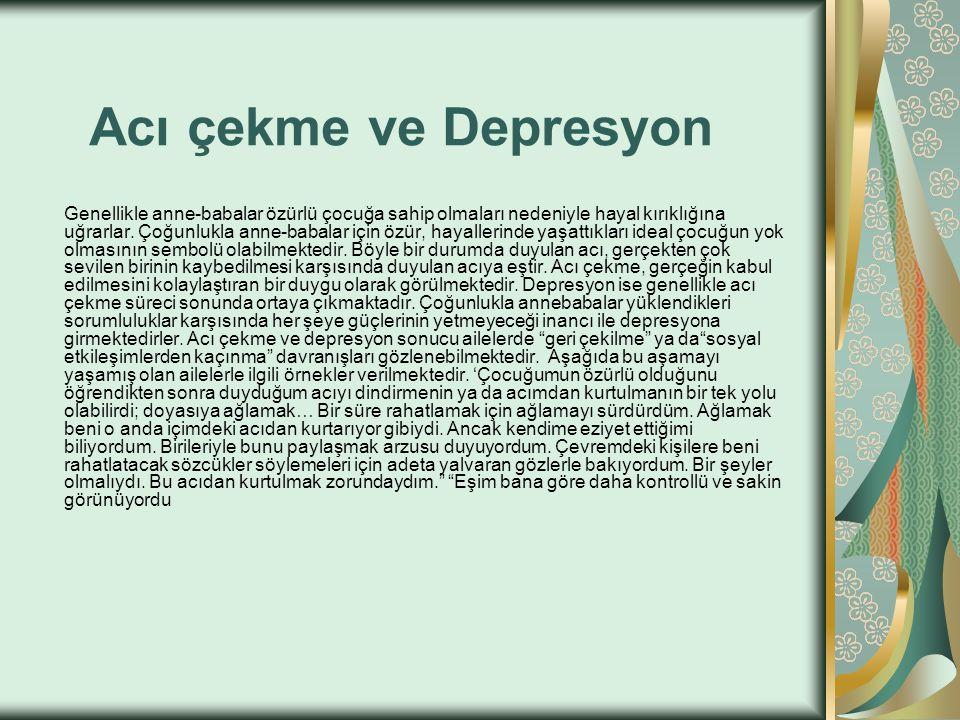 Acı çekme ve Depresyon