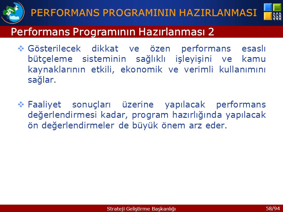 PERFORMANS PROGRAMININ HAZIRLANMASI