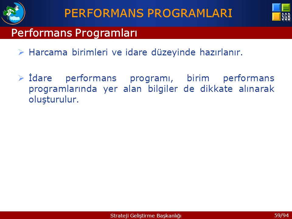 PERFORMANS PROGRAMLARI