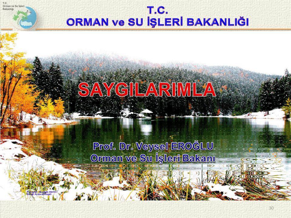 ORMAN ve SU İŞLERİ BAKANLIĞI Orman ve Su İşleri Bakanı