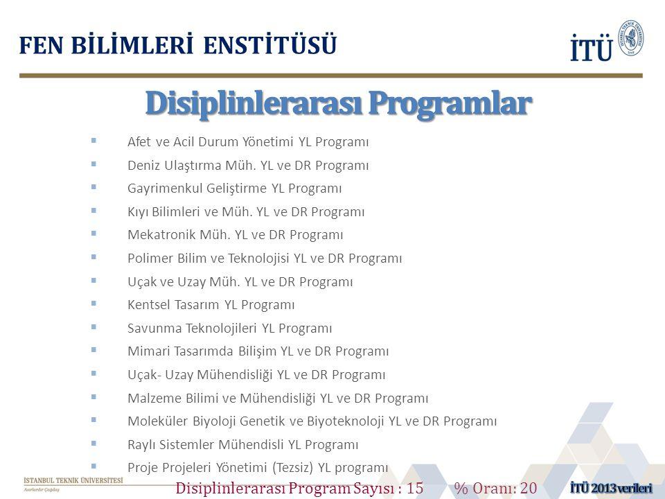 Disiplinlerarası Programlar