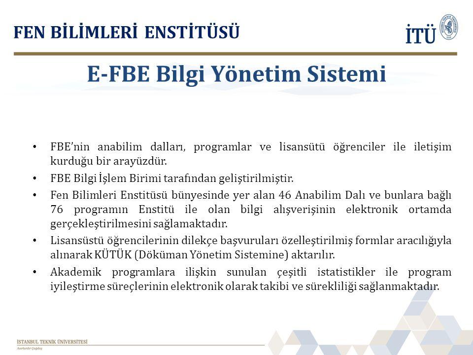 E-FBE Bilgi Yönetim Sistemi
