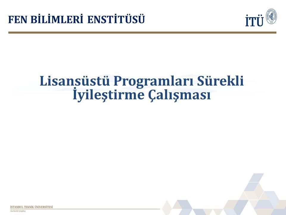 Lisansüstü Programları Sürekli İyileştirme Çalışması