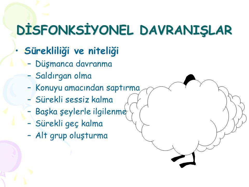 DİSFONKSİYONEL DAVRANIŞLAR