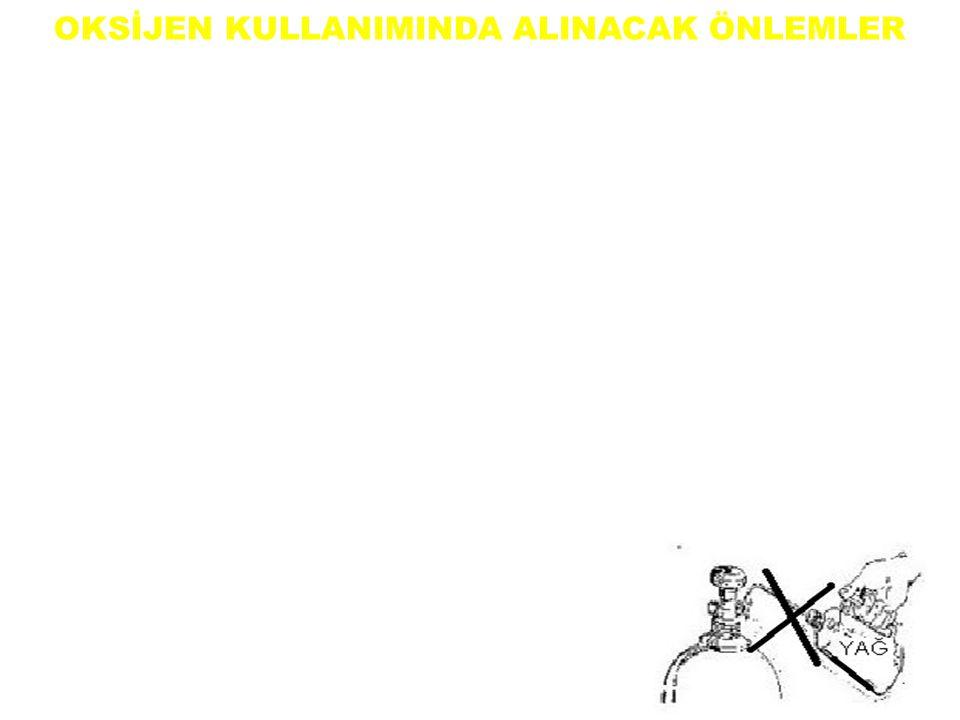 OKSİJEN KULLANIMINDA ALINACAK ÖNLEMLER