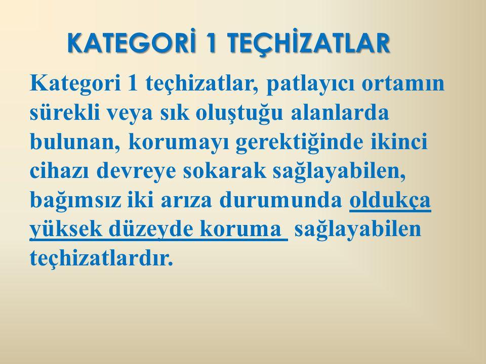 KATEGORİ 1 TEÇHİZATLAR