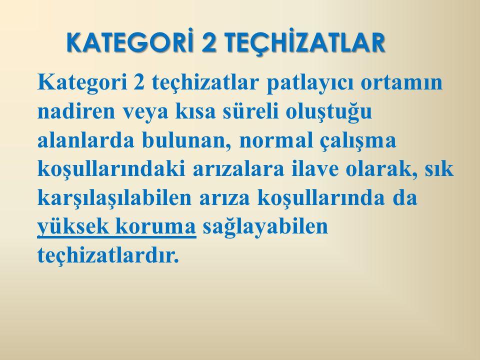 KATEGORİ 2 TEÇHİZATLAR
