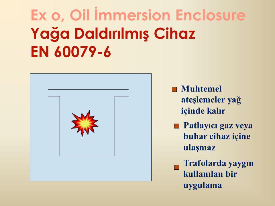 Ex o, Oil İmmersion Enclosure Yağa Daldırılmış Cihaz EN 60079-6