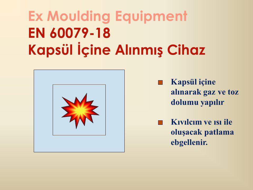 Ex Moulding Equipment EN 60079-18 Kapsül İçine Alınmış Cihaz