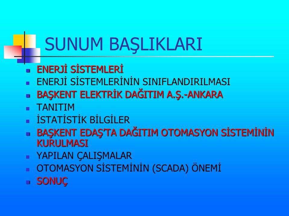 SUNUM BAŞLIKLARI ENERJİ SİSTEMLERİ