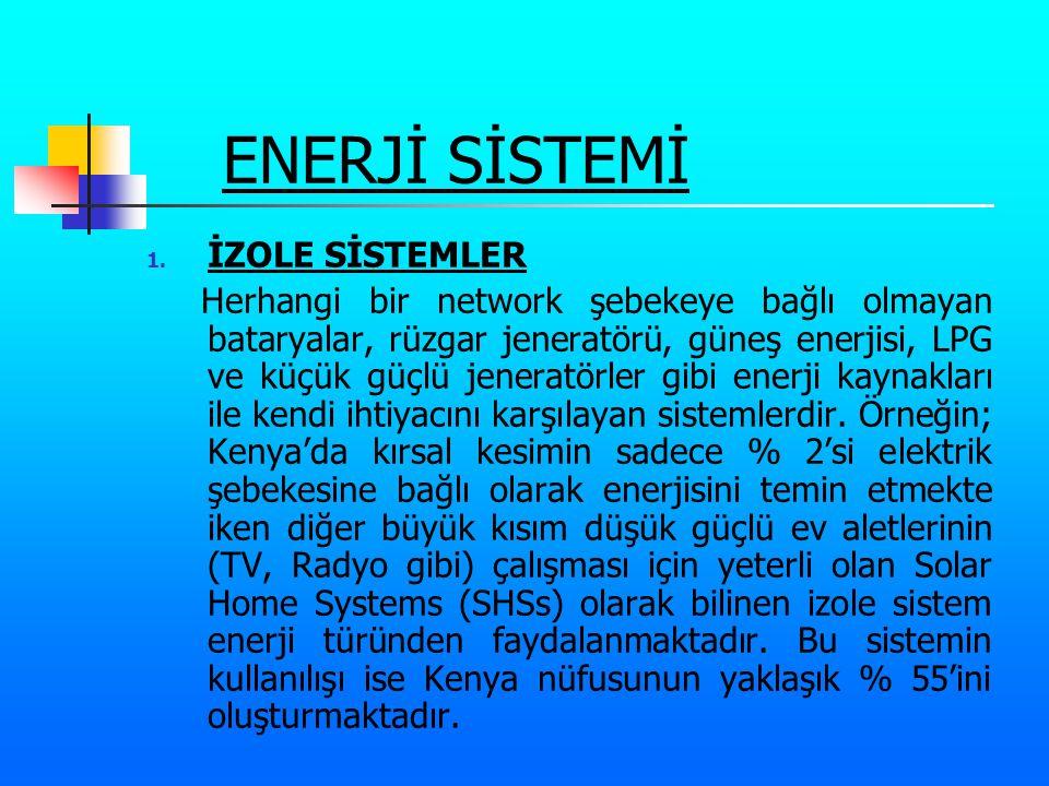 ENERJİ SİSTEMİ İZOLE SİSTEMLER