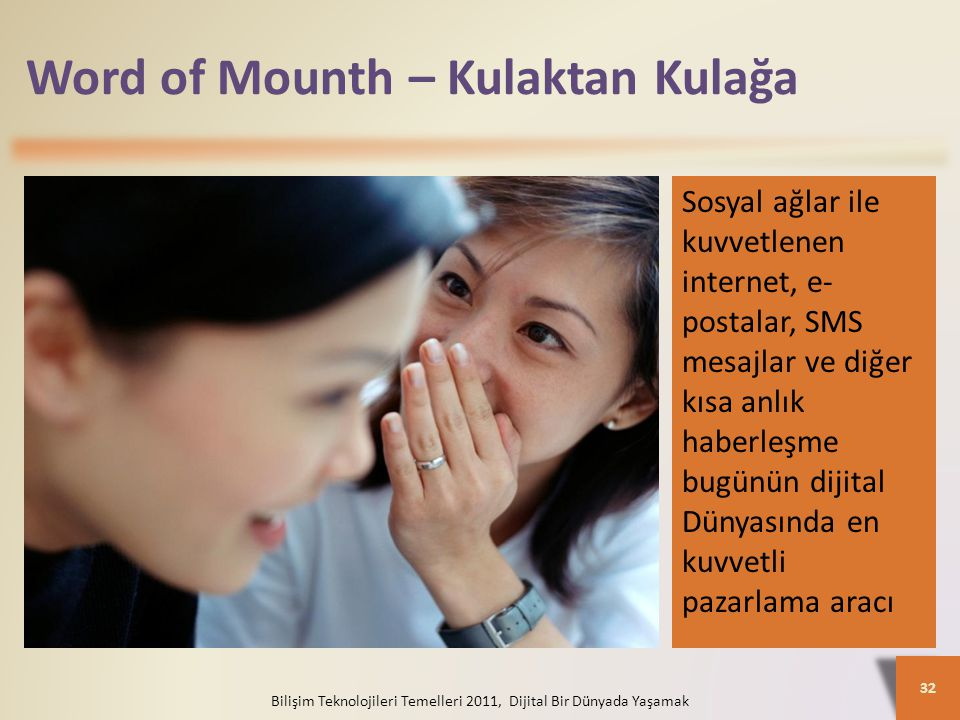 Word of Mounth – Kulaktan Kulağa