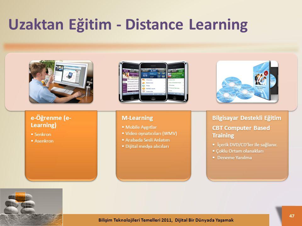 Uzaktan Eğitim - Distance Learning