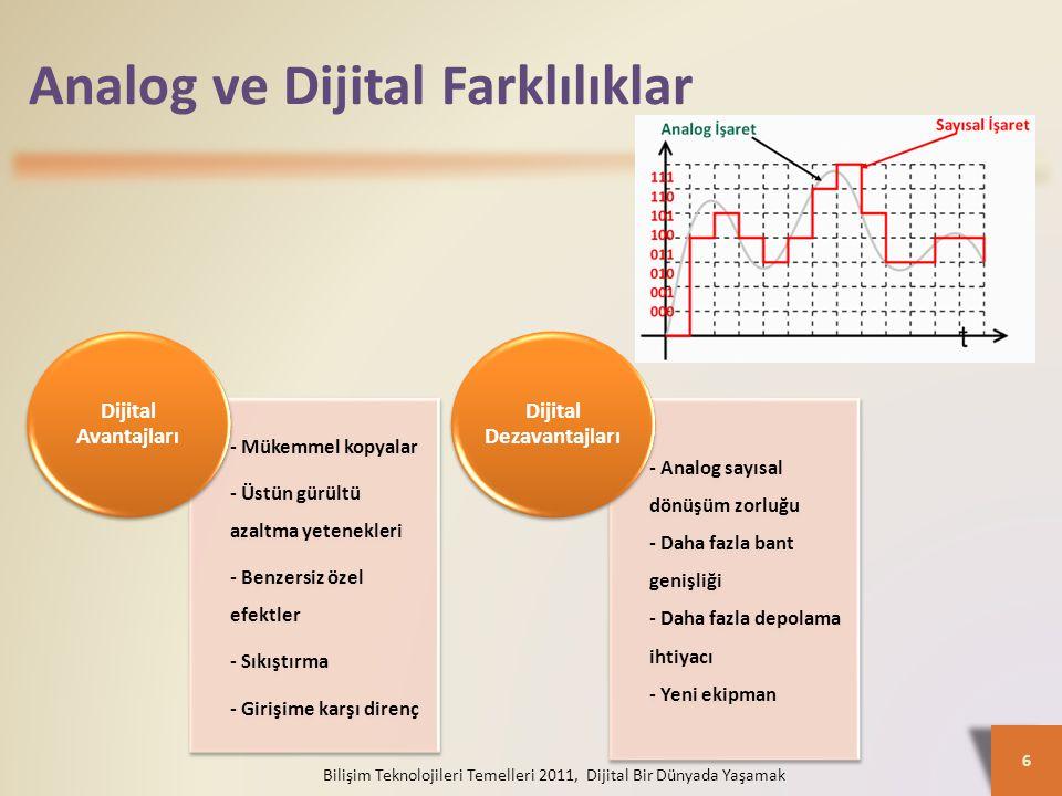Analog ve Dijital Farklılıklar