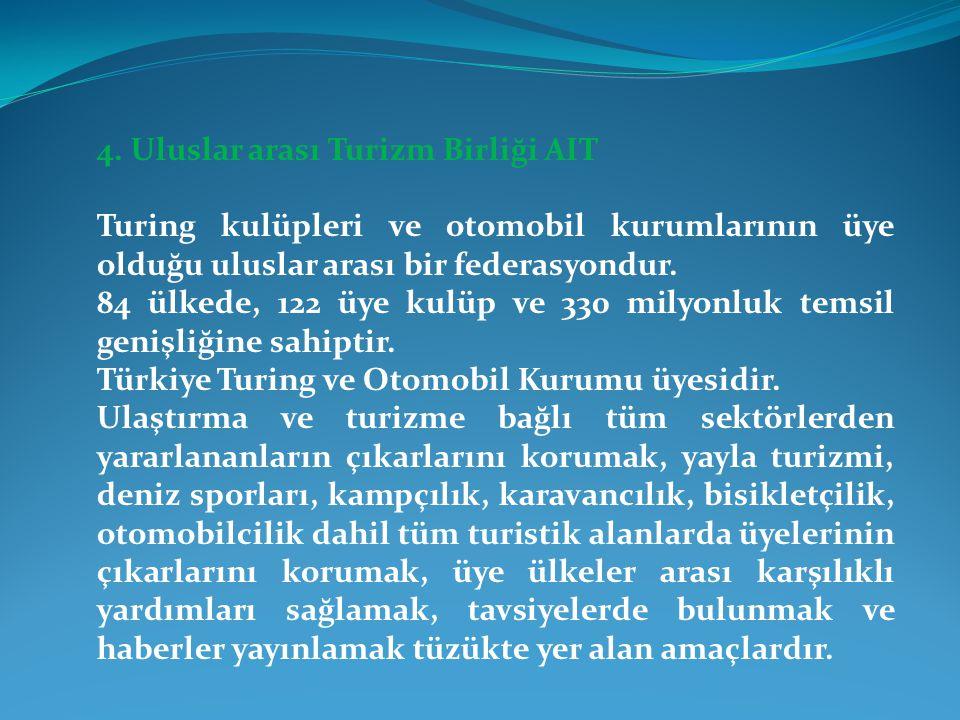 4. Uluslar arası Turizm Birliği AIT