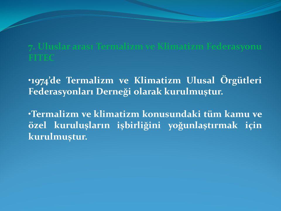 7. Uluslar arası Termalizm ve Klimatizm Federasyonu FITEC