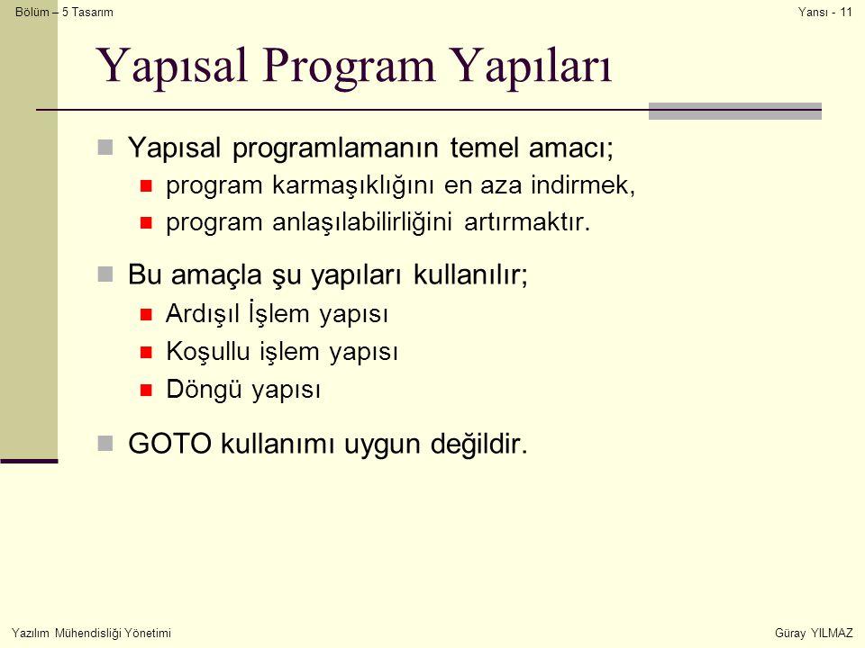 Yapısal Program Yapıları