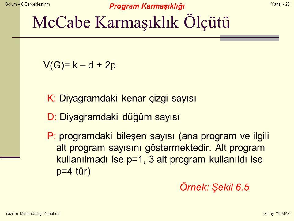 McCabe Karmaşıklık Ölçütü