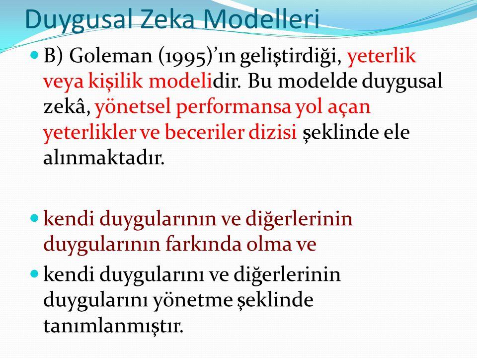 Duygusal Zeka Modelleri