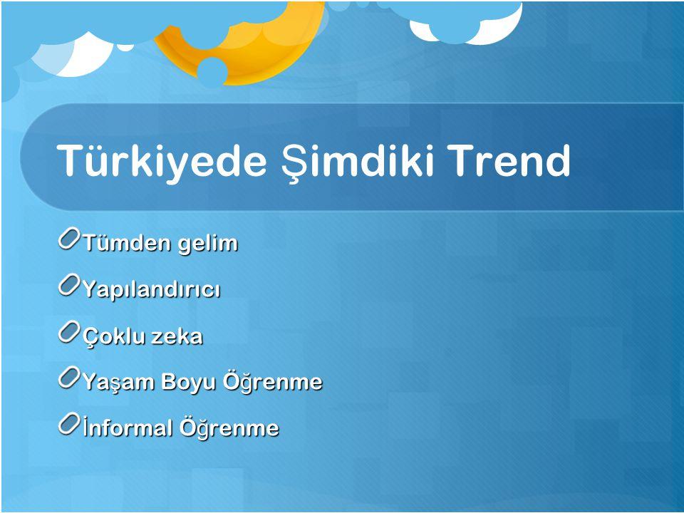 Türkiyede Şimdiki Trend