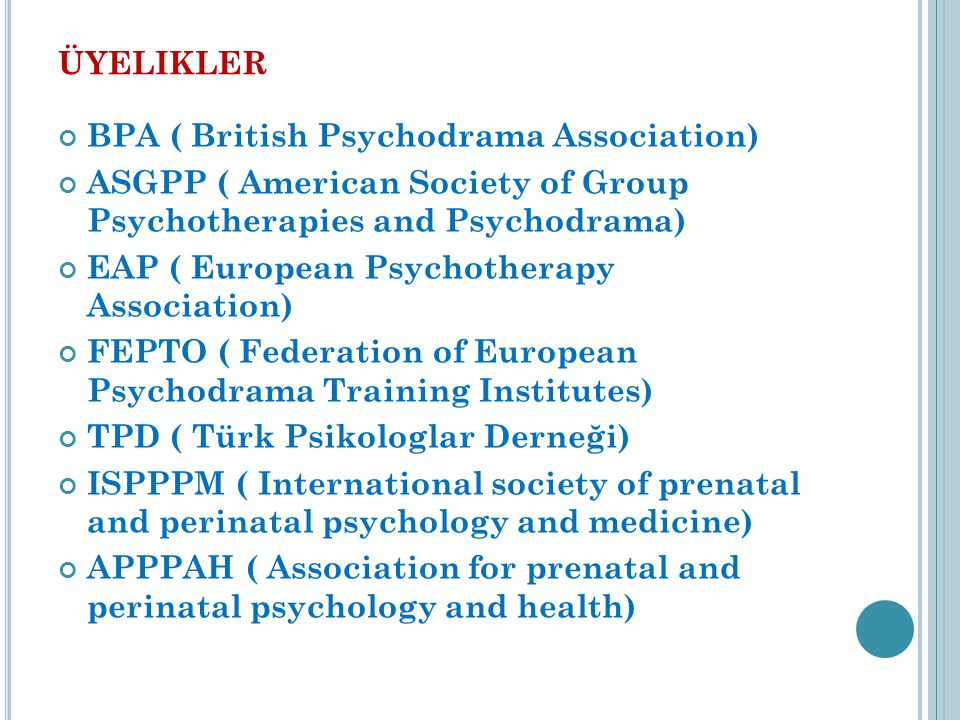 üyelikler BPA ( British Psychodrama Association)
