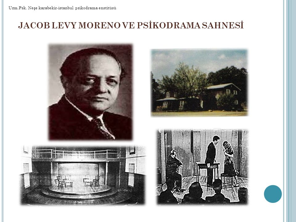 JACOB LEVY MORENO VE PSİKODRAMA SAHNESİ