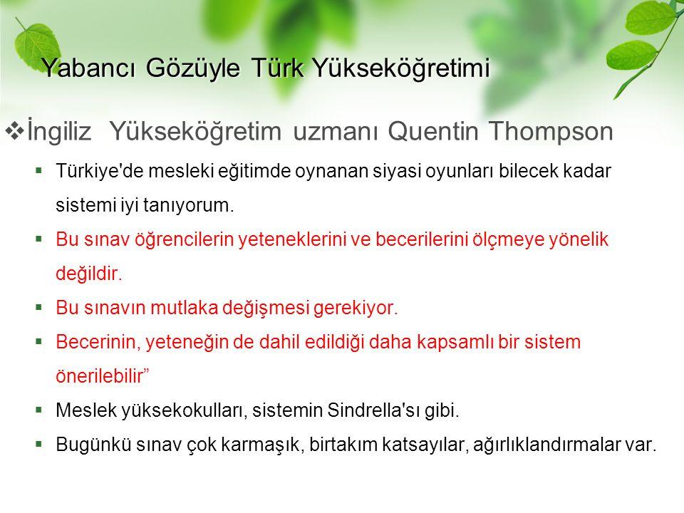 Yabancı Gözüyle Türk Yükseköğretimi