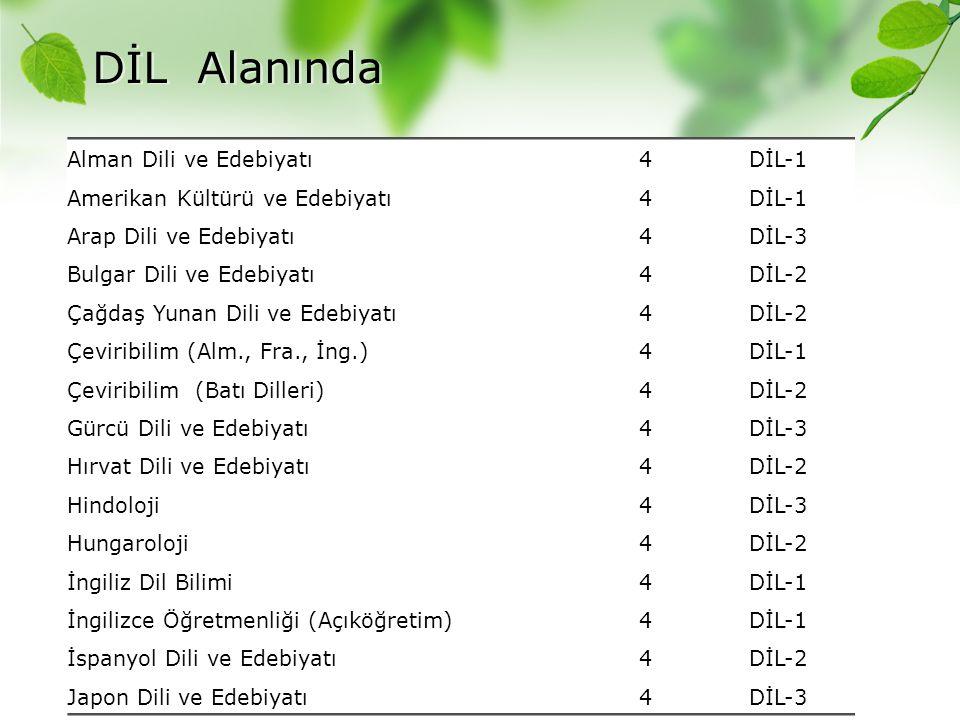DİL Alanında Alman Dili ve Edebiyatı 4 DİL-1