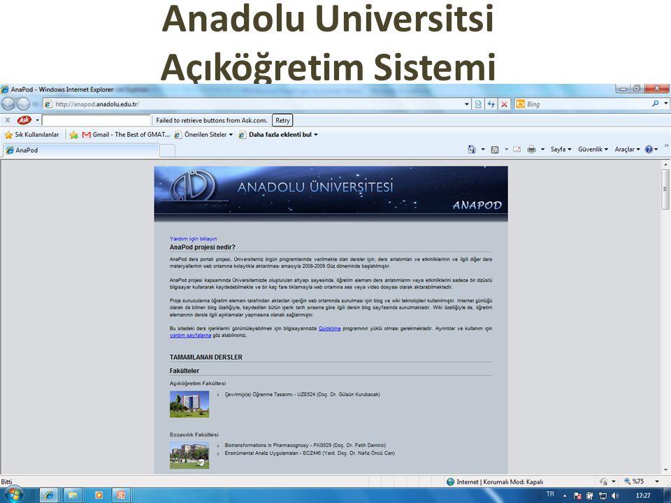 Anadolu Universitsi Açıköğretim Sistemi
